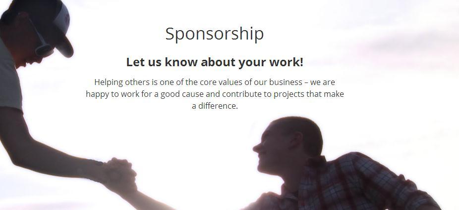 """Sponsorship""项目"